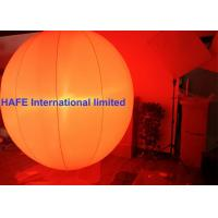 1.3M 2M Inflatable Lighting Decoration Sphere Crystal Balloons With DMX512 Box Manufactures