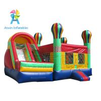 Cheap big inflatable adult bounce house with slide for rental