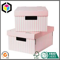 Pink Color Custom Print Corrugated Storage Box; Matte Color Print Packaging Box Manufactures