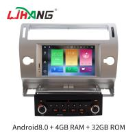 Silver 2 Din C4 Citroen Car Stereo GPS Navigation With Rear Camera Manufactures