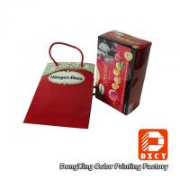 Red Wedding Paper Gift Bags With Cotton String Colorful Printing Glossy Lamination Manufactures