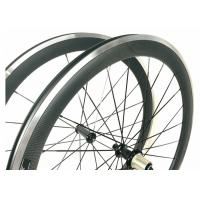 Quality Carbon Alloy Clincher Wheelset , R36 Hub Carbon Wheels With Alloy Braking Surface for sale