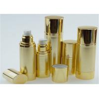 10ml 15ml 20ml Shinny Gold Airless Pump Bottles For Personal Skin Care Cream Manufactures
