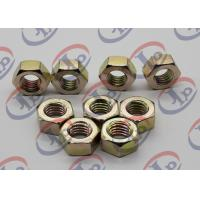 High Precision Machining Small Metal Parts , Hexagonal Zinc Plated Iron Nuts Manufactures