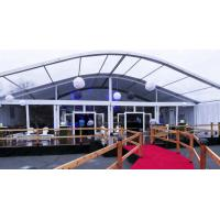 Curve Outdoor Event Tents WITH Factory Price Glass Door Curved Tents Manufactures
