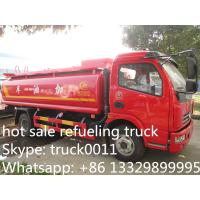 Dongfeng 6 Wheel 8000L Gasoline Transport Fuel Tank Truck, hot sale fuel tank for sale, dongfeng fuel dispenser truck Manufactures