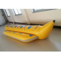 Quality Yellow PVC Single Tube Inflatable Banana Boat For Water Sports for sale