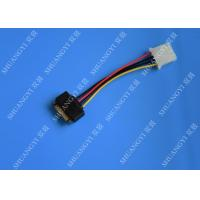 5.08mm Braided Molex 4 Pin SATA Power Cable 15 Pin Male To Male For Hard Disk Manufactures