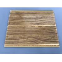 Buy cheap Kitchen Two Golden Line Ceiling PVC Panels Wooden Color Moisture - Proof from wholesalers