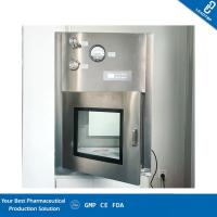 China GMP Cleanroom Static Dynamic Pass Box / Pharmaceutical Pass Box Low Noise on sale