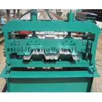 Automated PLC Control  High Precision Steel Structure Floor Deck Roll Forming Machine For Metal Decking Sheet Manufactures