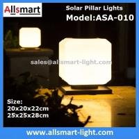 Squared Virginal Lily White Solar Pillar Lights Solar Chapiter Lamp Column Fence Lights China Factory Exporter Manufactures