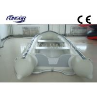 White / Red Hand Made 5 Man Foldable Inflatable Boat For Kids / Adults Manufactures