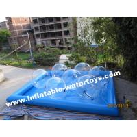 0.6MM PVC Tarpaulin high quality swimming Inflatable Water Pools with water walking balls Manufactures