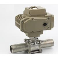 Fully Welded Electric Actuator Water Valve 3PC Female Threaded Stainless Steel Ball Valve with Electric Actuator Manufactures