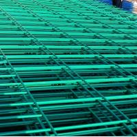 green yellow white powder coated steel wire fence panel