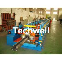 2.0-3.0mm Heavy Duty Upright Racking / Shelf Roll Forming Machine With JH21-80 Ton Press Machine To Punch Holes Manufactures