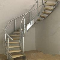 Modern Luxury  Steel Curved Structure Staircase Manufactures