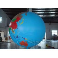 Multifunction Globe Round Earth Balloon / Customized Design World Helium Ball Manufactures