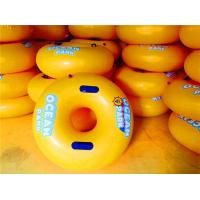 Yellow PVC Inflatable Water Toys Small Swimming Ring For Children Manufactures