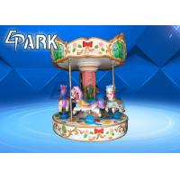 Kids Amusement Carousel Horse Ride / Coin Operated Animal Rides Manufactures