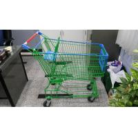 Supermaket 150L Wire Shopping Trolley With Advertisement Board