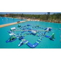 Giant Lake Inflatable Water Park Rentals , Inflatable Water Sports Equipment Manufactures