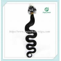 """Micro ring loop hair extensions 16""""-26""""L indian remy hair 1B# color body wave hair Manufactures"""