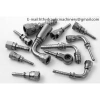 Carbon steel zinc plated low price hydraulic rubber hose fittings hydraulic adapter hydraulic hose connector Manufactures