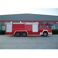 Dry Powder Fire Pumper Truck , Dummy Plate Thickness 3mm Fire Service Truck Manufactures