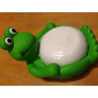 Animal Design Bathroom Plastic Soap Dish , Duck / Frog Soap Dish Non Phthalate Vinyl Manufactures