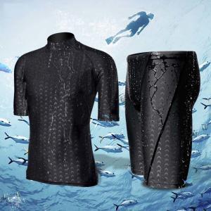 China Men Black Short Sleeve M L XL 4XL Neoprene Diving Suit on sale
