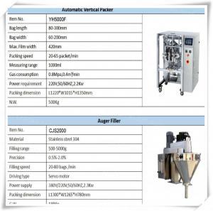 powder sachet packing machine , detergent powder packing machine for Oxalic Acid / Sodium Nitrate / White Gum Powder Manufactures