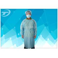 Quality PP Coated PE Waterproof Disposable Isolation Gowns Unisex With Different Size for sale