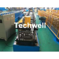 GCr15 Steel Roller Guide Rail Cold Roll Forming Machine With Hydraulic Cutting Manufactures