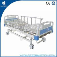 China Three Function Manual Hospital Beds , Height Adjustable Manual Beds on sale