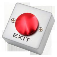 Red / Green Push To Exit Button SPDT Flat Mushroom Metal Surface Mount Manufactures