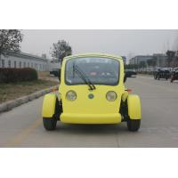 China Yellow Color Utility Golf Cart Sightseeing Car PP Material With 40 KM/H Max Speed on sale