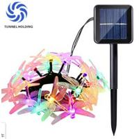 Beautiful Solar LED String Lights / 20 LED Dragonfly String Lights For Party Manufactures