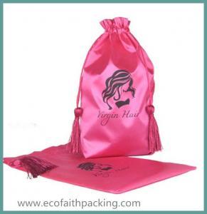 customized satin hair extension bag virgin hair extension bag Manufactures