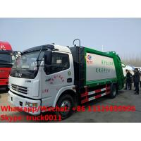 2018s best price dongfeng 4*2 LHD/RHD 120hp diesel 7m3 6tons garbage compactor truck for sale,compression garbage truck Manufactures