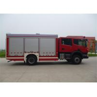 Quality Chemical Accidents Rescue And Salvage Fire Truck Fire Equipment Truck , Max Speed 100KM/H for sale