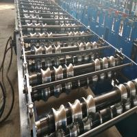 Quality Advanced Roofing Sheet Roll Forming Machine With Double Chains Drive 0.3mm - 0.8mm for sale