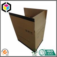 Large Size Double Wall Corrugated Shipping Box; Black Color Logo Shipping Box Manufactures