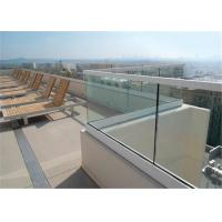Glass Terrace Building Railing Commercial Glass Balustrade Aluminum U Channel Handrail Flooring Mounted Manufactures