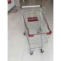 Wire Grocery Supermarket Shopping Carts Zinc Plating Clear Powder Coating Manufactures