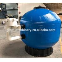 Commercial Cleaning 6 Way Valve Fiberglass Top Mount Sand Filter For Swimming