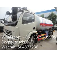 hot sale lpg gas cooking propane delivery truck, dongfeng brand 4*2 LHD/RHD 5500L lpg gas transported tank truck Manufactures