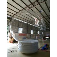 0.8 Mm Transparent PVC Ball Custom Inflatable Products Christmas Rolling Snow Ball Manufactures