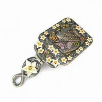 Metal Alloy Brooch, Available in Various Sizes, Colors and Styles Manufactures